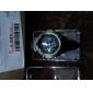 unisex αναλογικό-ψηφιακό πολυλειτουργικό περίπτωση ασημί μαύρη ζώνη σιλικόνης σπορ ρολόι