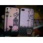 Поликарбонатный бампер с задней крышкой для iPhone 4 и 4S (романтика)