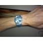 Herren: Freizeit-PU-Leder Analog Quarz-Armbanduhr (farbig sortiert)