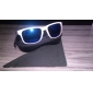 Unisex White Frame PC Lens UV400 Sunglasses with Carrying Pouch