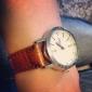 coppia di polso unisex pu analogico orologio al quarzo (marrone)
