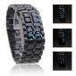 Relógio LED Azul Digital Edição Cobra Unisex (Preto)