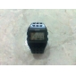Unisex LCD Digital Block Bricks Style Band Wrist Watch (Black) Cool Watch Unique Watch