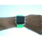 Silicone Band Women Men Unisex Jelly Sport Style Square LED Wrist Watch - Green