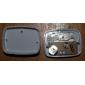 Mini podómetro blanco contador de pasos (cals / km / milla)