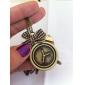 아름다운 알람 시계 레트로 패턴 합금 목걸이