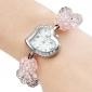 Women's Adjustable Band Style Plastic Analog Quartz Bracelet Watch (Assorted Colors)