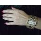 Amazing Women's Golden Bracelet Watch with Graceful Multi Color Diamond Decoration