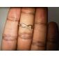 Women's Punk Infinity Golden Silver CZ Ring