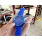 Relógio Moderno com Bracelete de Silicone Azul