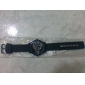 Men's Military Style Dual Time Zones Black Fabric Band Quartz Wrist Watch