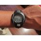 hommes multi-fonctionnel de style caoutchouc noctilucent montre numérique poignet automatique avec moniteur de fréquence cardiaque (noir)
