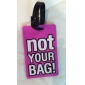 Reizen Bagagelabel - niet uw tas (paars)