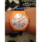 Unisex Rubber Analoog Quartz Wrist Watch (Balck)
