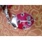 Red Ladybird Style Quartz Analog Keychain Watch