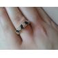 lureme®gold anillo de aleación de circón chapado (colores surtidos)
