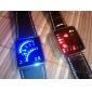 Unisex LED Binary System Display Black PU Leather Wrist Watch Cool Watch Unique Watch