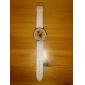 Montre pour Femme A139, Motif Chat, Bracelet Blanc