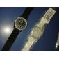 Frauen Quarzentsprechung Diamant Fall Silikonbandarmbanduhr (farblich sortiert)