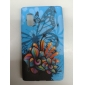 Flower and Butterfly Pattern TPU Soft Case for LG Optimus L5 E612