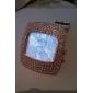 Diamante carré cas PU bande de quartz de la montre-bracelet analogique des femmes (couleurs assorties)