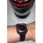 Unisex Red LED Pointer Style Black PU Band Digital Wrist Watch