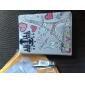 Eiffelturm Muster pu Ledertasche mit Ständer für iPad 2/3/4