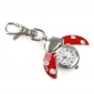 Red Ladybird Style Quartz Analog Keychain Watch
