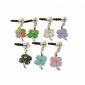 Liga sorte Opal Clover Pattern plug Anti-pó (cores aleatórias)