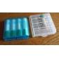 aaa / aa plástico caso titular caixa de armazenamento (branco + azul roxo + + verde)