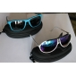 Blue Frame UV400 Sunglasses with Carrying Pouch