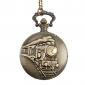 mannen trein stijl legering analoge quartz zakhorloge (brons)
