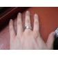 eruner®unisex anneau en acier de titane de ligne transversale