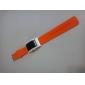 Soft Wristband Colorful LED Watch - Orange