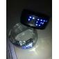 pary futurystyczny zegarek cyfrowy led niebieski bransoletka (czarno-białe, 1 para)