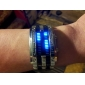 Men's Watch Faceless Watch Blue LED Digit Watch Calendar Steel Band Wrist Watch Cool Watch Unique Watch Fashion Watch