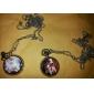 Women's Cute Cat Alloy Analog Quartz Necklace Watches (Silver)