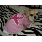 Ribbon Style Cotton Dog Shirt (XS-M, Pink)
