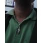 eruner®titanium stål krystal fjer vedhæng mands halskæde