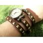Kvinnors Fashionabla Rivet PU Analog kvarts armband klocka (blandade färger)