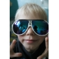 Unisex Funky White Frame Blue Lens UV Protection Sunglasses (UV400)