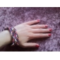 z&X® multicolor pulseira cordão de tecer
