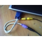 VGA Male to RCA+S-Video Female Cable (0.1M)