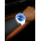 Unisex Jelly Blue Dial White Silicone Band Quartz Analog Wrist Watch Cool Watch Unique Watch