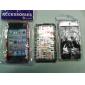 iPod Touch 4用 文字柄 バックケース バンパーフレーム