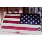 Carcasa de la Bandera de los Estados Unidos Envejecida para el iPod Touch 4