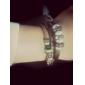 Z&X® Leather Bracelet Multilayer Vintage Fabric Bracelet with Leaf