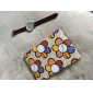 Yellow Flowers Pattern PU Leather Case with Stand for iPad mini