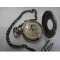 Montre de Poche Automatique Analogique, Vintage, En Alliage, Unisexe - Bronze