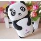 3D Panda suunnittelu Silica Gel Soft Case for iPhone 4/4S